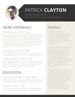 smart and professional resume - Resume With Picture Template