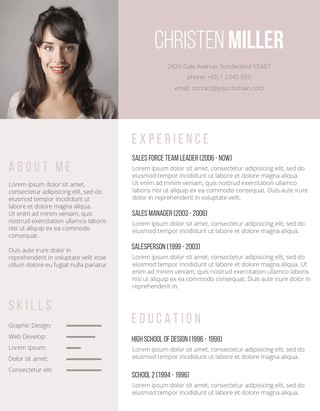 The Vintage Rose Resume Template  Resume With Photo Template