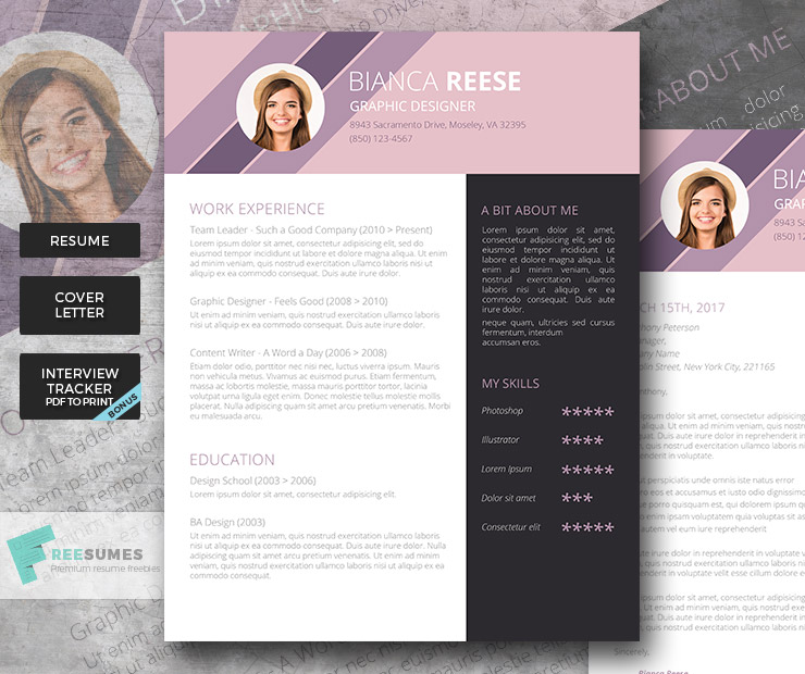creative resume package
