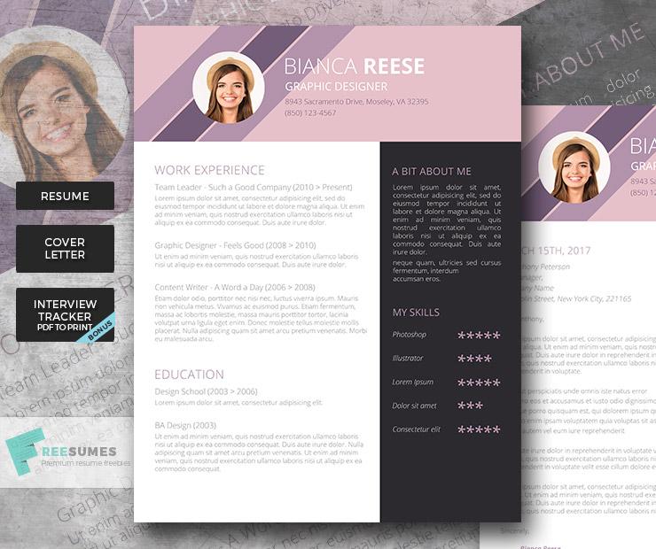 creative resume package
