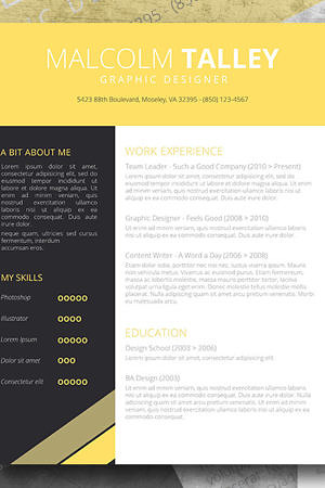 yellow premium resume pack
