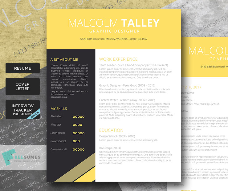 Make your resume pop with the graduate premium resume template the graduate premium cv pack yelopaper Choice Image
