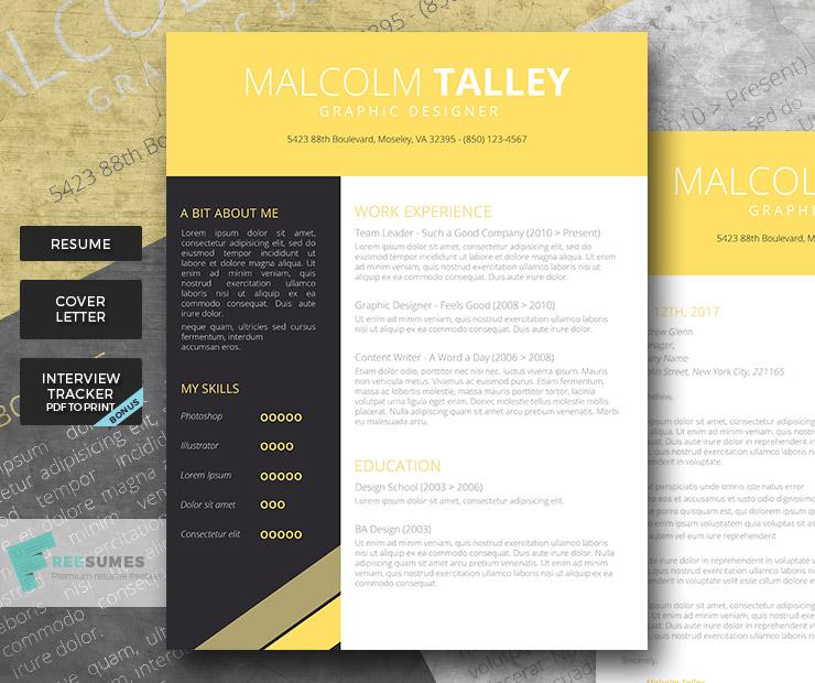 yellow premium resume pack