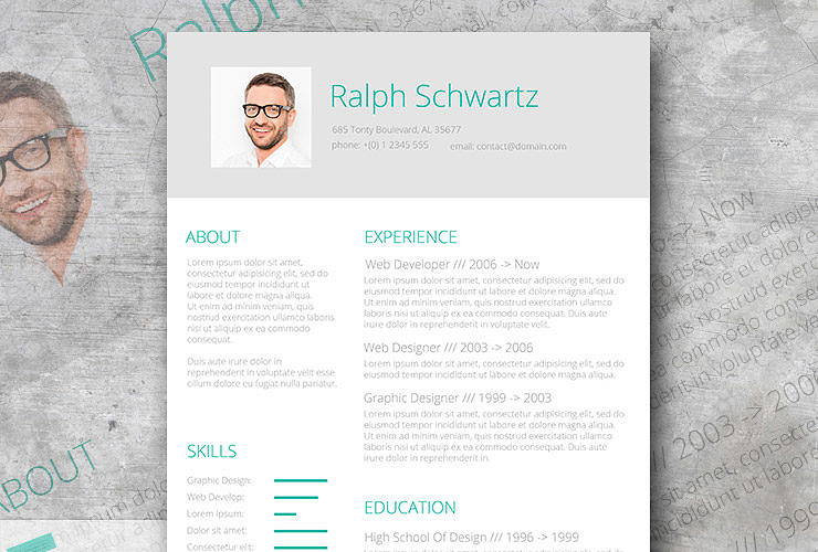 fresh resume design