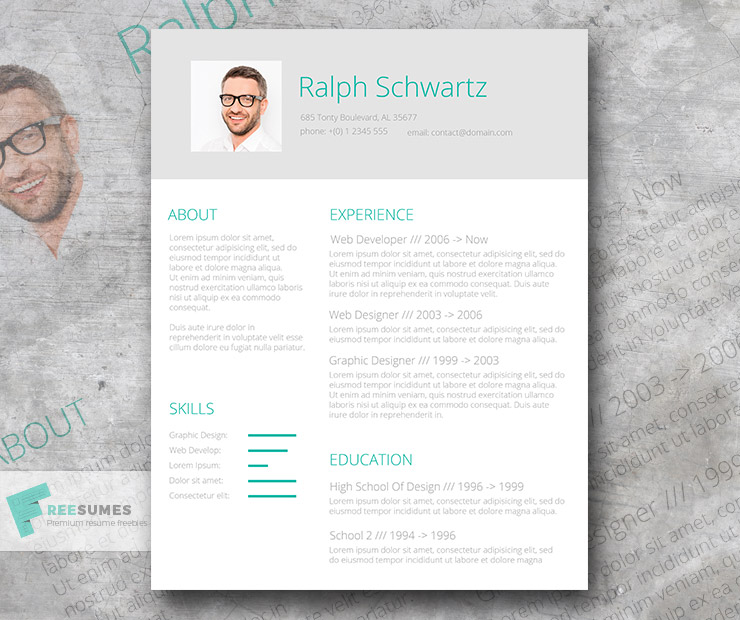 fresh resume design