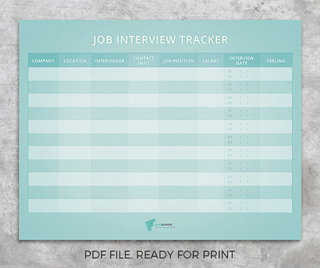 job interview tracker