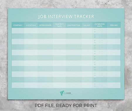 job interview tracker