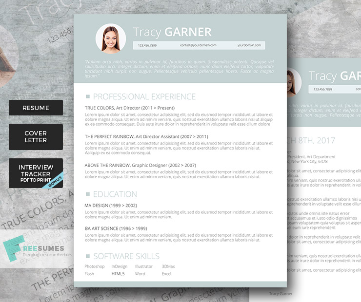 Go Team! Premium Resume Template Set  Go Resume