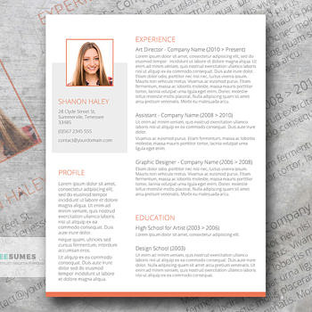 free resume shades of orange