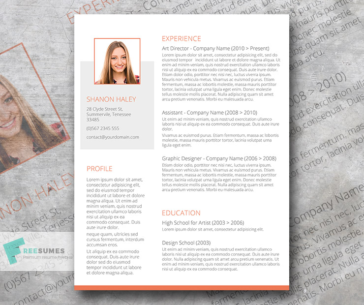 free resume shades of orange
