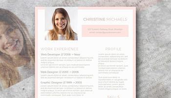peach resume template