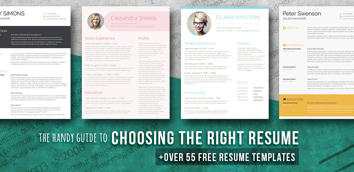 resume templates for word - Free Resume Templates In Word