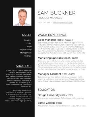 two tones resume design - Free Designer Resume Templates