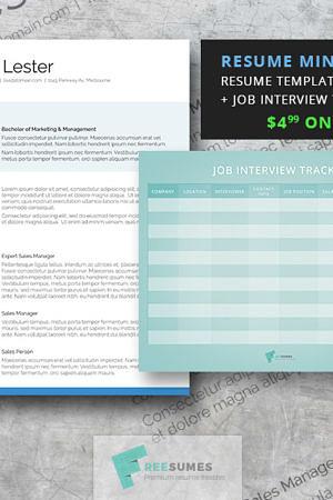attention grabber resume mini-pack