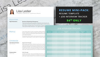 attention grabber resume mini-pack