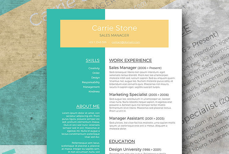 perspective resume layout