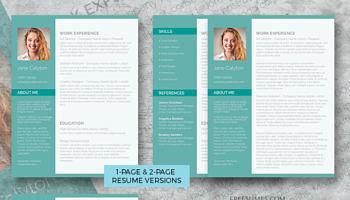resume template set classy emerald