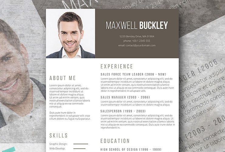 notepad resume format the headline modern unique template freebie