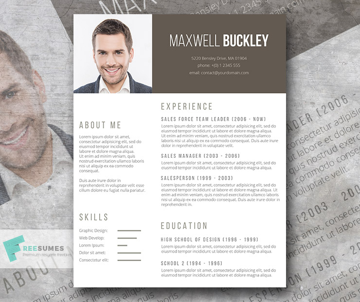 the headline a modern and unique resume template freebie - Amazing Resume Template