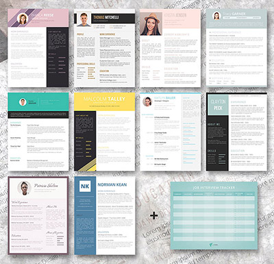 resume templates bundle word