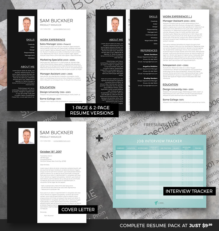 cv template set two tones