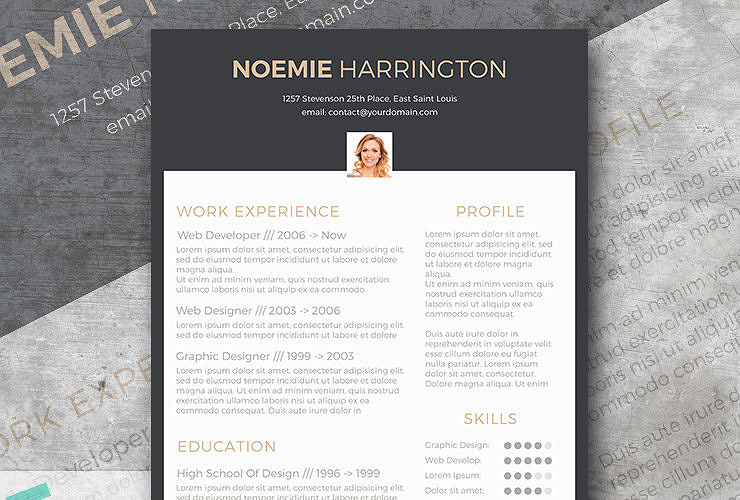 Charmant Free CV Template | The Elegant Jobseeker