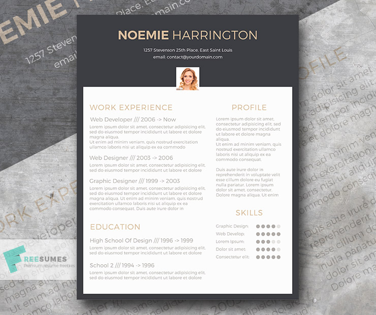 Free Cv Template  The Elegant Jobseeker  FreesumesCom