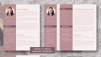 resume pack modern and chic