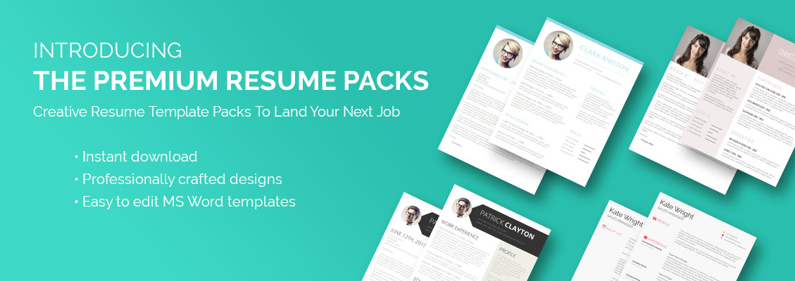 creative resume template packs