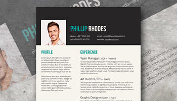 turquoise modern resume template