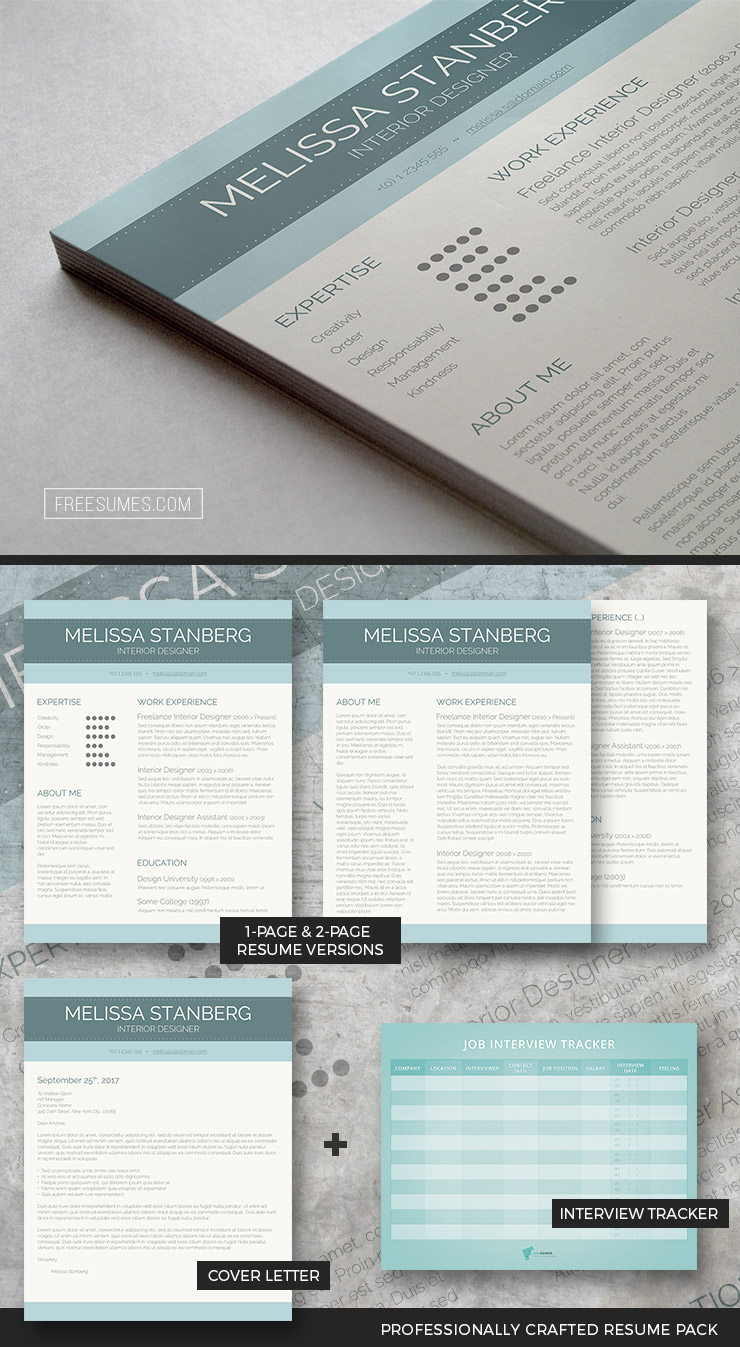 Clean Resume Template Package The Modern Day Candidate