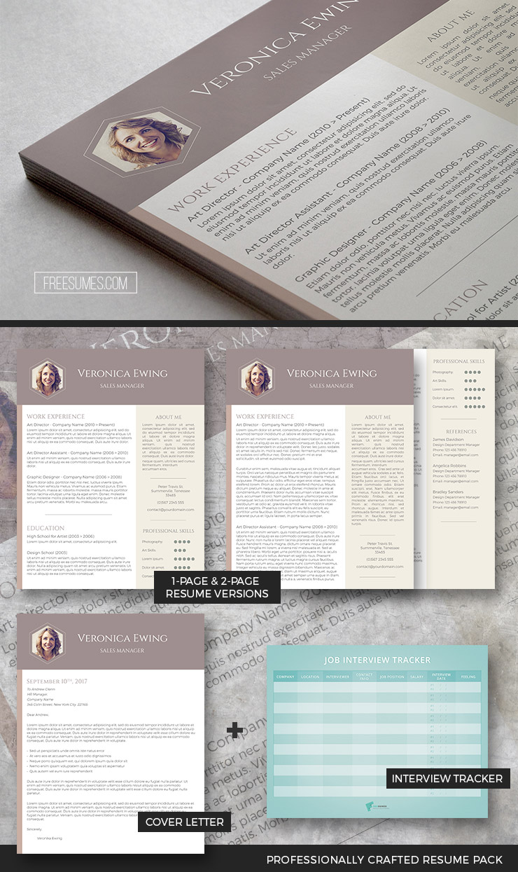 modern resume template pack
