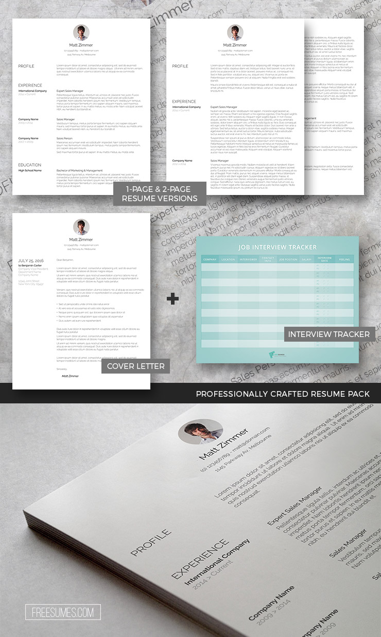 professional resume template pack