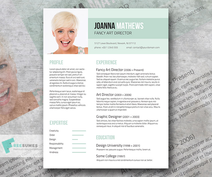 trendy resume template giveaway sense and style freesumes