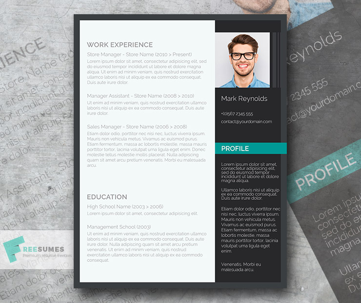 Photo Resume Templates Professional Cv Formats: A Free Ultra-Creative CV Template