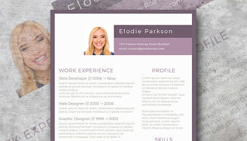 plain in purple resume template