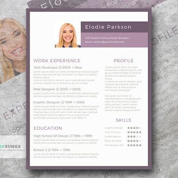 plain in purple resume template