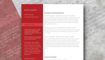 roaring red resume template