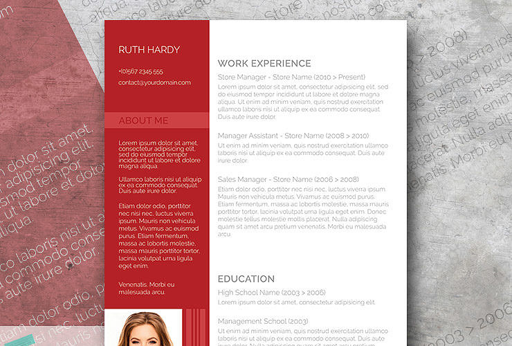 free resume template with a modern flair roaring red - Free Unique Resume Templates