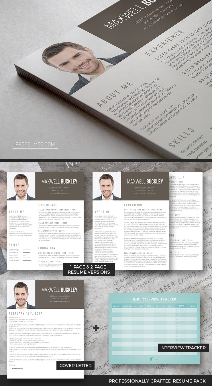 Modern Resume Template Pack  The Headline  Freesumes