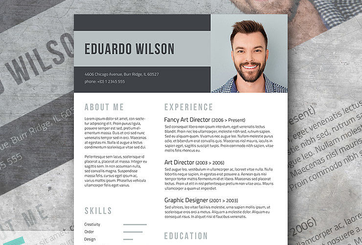 bold statement a free elegant resume template