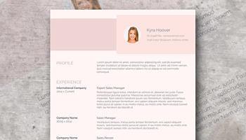 Modern Pink Resume Design | Misty Rose  Modern Resume Design