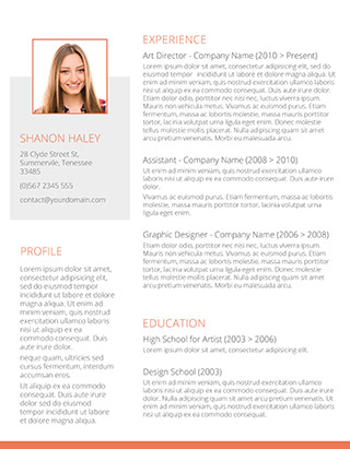 shades of orange resume - Modern Resume Templates Word