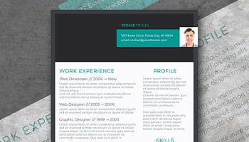 stylish header resume