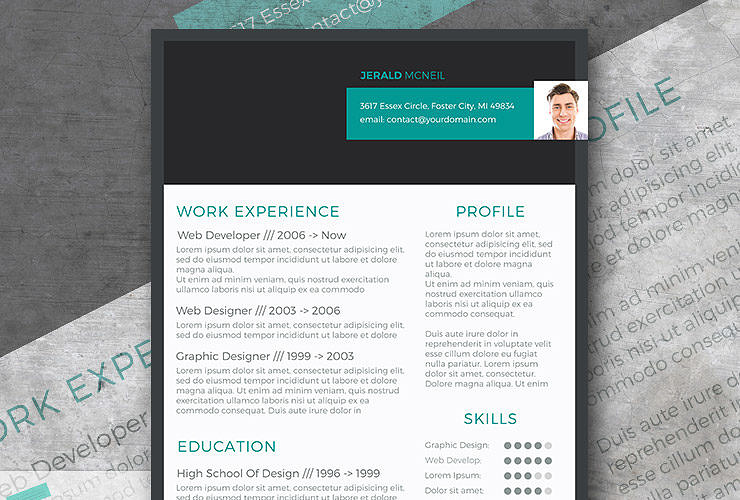 Free modern resume templates modern resume design freebie stylish header thecheapjerseys Image collections