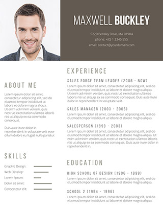 The Headline Resume Template  Resume Template With Photo