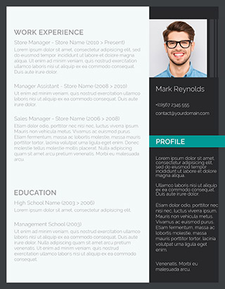 The Modern Professional Resume  Modern Resume Template Word