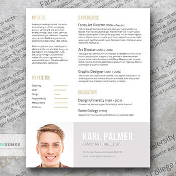 unconventional resume template