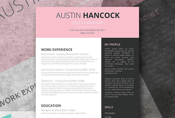 Bubble Gum | A Free Creative Resume Template For Word