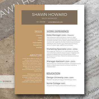 cafe au lait resume template